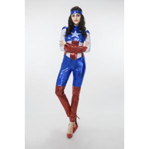 キャプテンアメリカ コスチューム 女性用 ハロウィン コスプレ衣装 仮装 変装