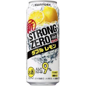 サントリー -196℃ ストロングゼロ ダブルレモン  500ml×1ケース(24本) 一部地域送料無料 garibar-shop