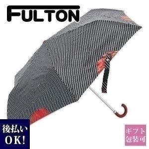 フルトン FULTON 傘 折り畳み傘 リップ柄 PINSTRIPE LIP L718 レディース ...