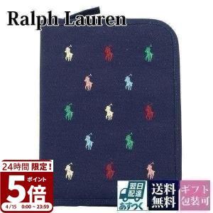 ポロ ラルフローレン 母子手帳 マルチ ケース ブックキャンバス ネイビー×マルチカラー刺繍 CWPOACCI9P10009|garlandstore