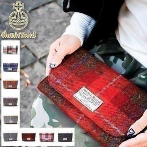 在庫限り 母子手帳ケース ジャバラ ハリスツイード ショルダーバッグ バッグ 北欧 母子手帳カバー トラベルポーチ マルチケース|garlandstore