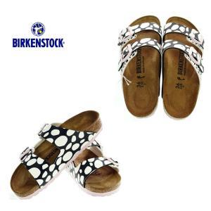 BIRKENSTOCK ビルケンシュトック 1013597 Arizona BS アリゾナ Two-Tone Dots Black/White ドット柄レディースサンダル|garo1959