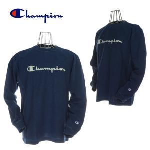 Champion チャンピオン C3-Q416 REVRESWEAVE L/S T-SHIRT リバースウィーブロングスリーブTシャツ 330 インディゴ|garo1959