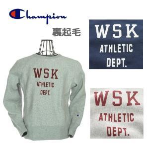 Champion チャンピオン C3-Q013 REVERSE WEAVE CERW NECK SWEAT リバースウィーブクルーネックスウェットシャツ 040シルバーグレー/386ダークネイビー|garo1959