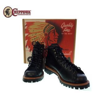 CHIPPEWA チペワ  5インチレーストゥフィールドブーツ   1901G42   BLACK WHIRLWIND   ブラック|garo1959