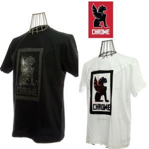CHROME クローム STENCIL LOOKUP TEE ステンシルロックアップ JP003 WHITE/BLACK|garo1959