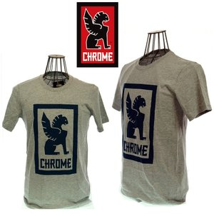 CHROME クローム LARGE LOCK UP TEE AP-177 HEARTHER GREY|garo1959