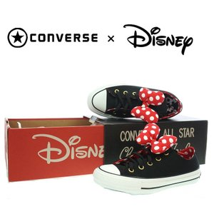 CONVERSE ALL STAR コンバースオールスター 100 MINNIE MOUSE RB OX ミニーマウス リボン 5CK 851 BLACK|garo1959