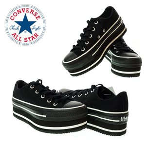 CONVERSE コンバース 5SC747 ALL STAR CHUNKYLINE OX オールスター チャンキーライン オックス BLACK レディーススニーカ−|garo1959