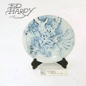 EdHardy (エドハーディー)Original Dragon plate 染付 古来龍文 皿 有田焼|garo1959
