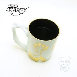 Ed Hardy(エド・ハーディ)マグカップ(有田焼)スモーク&ハンドマグホワイト|garo1959