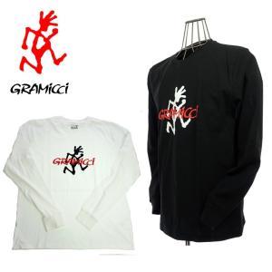 GRAMICCI  グラミチ  GUT-18F086  LOGO L/S TEE  ロゴロングスリーブTシャツ  WHITE/BLACK|garo1959