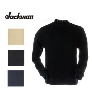 Jackman ジャックマン JM7653 Waffle Mid-Neck ワッフルミッドネック 14アイボリー/07ブラック/61ダークネイビー|garo1959