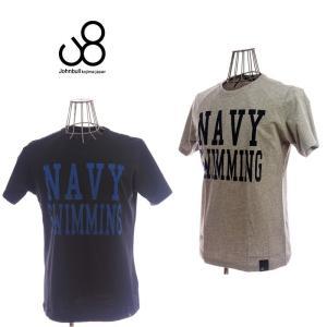 johnbull ジョンブル NAVY TEE 25009 33 GRAY/30 BLACK メンズ Tシャツ|garo1959