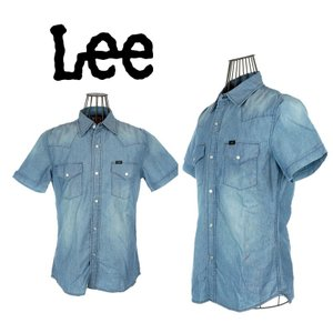 Lee リー シャンブレー 半袖ウエスタンシャツ ユーズド LEE-LT0502-256|garo1959