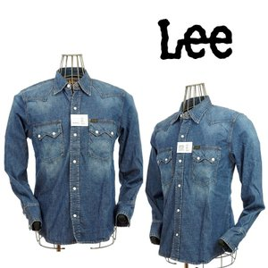 Lee リー  HI-STANDARD  WASTAN SHIRTS  LM0385-346 346 中色ブルー ストレッチデニムシャツ|garo1959