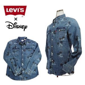 Levi`s×MICKEY MOUSE 658160292 ディズニーコレクション ウエスタンシャツ MICKEY|garo1959