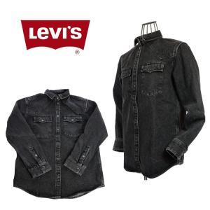LEVI`S LINE 8 リーバイスラインエイト  566630000  ウエスタンデニムシャツジャケット BLACK|garo1959