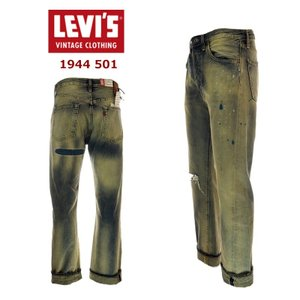 LEVI`S VINTAGE CLOTHING  リーバイス ビンテージ クロージング 445010070 1944年モデル クラッシュ&リペア加工  INDIGO HARD WORN|garo1959