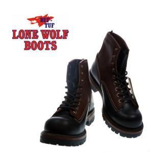 ロンウルフ(LONEWOLF)レザーブーツ「ロガー(LOGGER)」LW00125 319BLK ブラック×ブラウン|garo1959