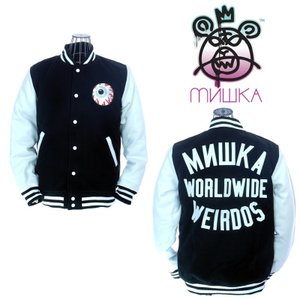 MISHKA  ミシカ Keep Watch Worldwide Varsity Jacket HO151304M Black スタジャン キープウォッチ|garo1959