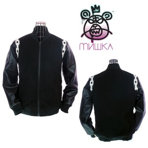 MISHKA ミシカ AFTERSHOCK VARSITY JACKET BLACK ジャケット HO141304B|garo1959