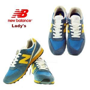 new balance ニューバランス WL996SVA ブルー/イエロー レディーススニーカ− |garo1959