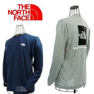 THE NORTH FACE  ザ.ノース.フェイス  L/S RED BOX TEE  NT81523  CM コズミックブルー/Z ミックスグレー|garo1959