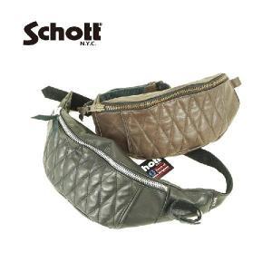 【Schott】ボディバック・レザー・牛革 PADDED BODY BAG|garo1959
