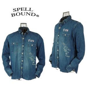 スペルバウンド/SPELLBOUND/リメイクデニムワークシャツ Made in Japan 48-701E|garo1959