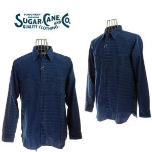 SUGAR CANE  シュガーケーン  SC27494   INDIGO DOBBY WORK SHIRT   インディゴドビーワークシャツ  199CRZ|garo1959