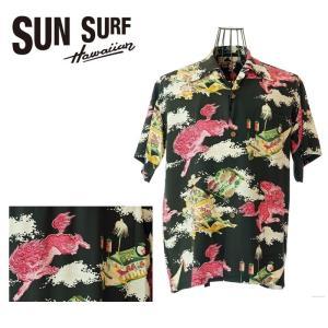 SUN SURF  サンサーフ  SS37773  ORIENTAL FESTIVAL   119BLK   アロハシャツ 和柄 お祭り|garo1959