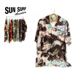 SUN SURF サンサーフ SS38564 DRAGON 119BLK メンズアロハシャツ|garo1959