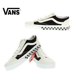 VANS バンズ VNOA3DZ3UD8 Style36(Bmx Checkerboard) スタイル36 チェッカーボード white/demitas ホワイトデミタス メンズ レディース スニーカー|garo1959