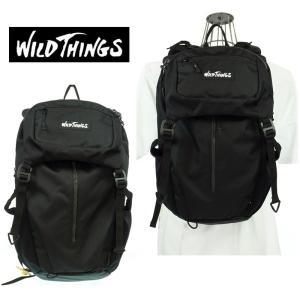 WILD THINGS  ワイルドシングス  フラップリュック  WT-380-0001   01 BLACK    2WAY   バックパック|garo1959
