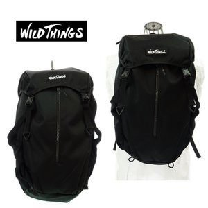 WILD THINGS ワイルドシングス FRAP BACKPACK フラップバックパック WT-380-0004 BLACK|garo1959