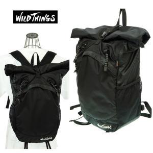 WILD THINGS ワイルドシングス  DAY PACK デイパック  WT080044-BS  BLACK  ロールトップ|garo1959