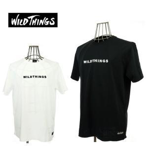 WILD THINGS  ワイルドシングス  WT ENBROIDERY TEE  WT17034N   WHITE/BLACK   ロゴ刺繍|garo1959