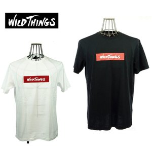 WILD THINGS  ワイルドシングス  ボックスロゴTEE  WT17035N   WHITE/BLACK   CORDURA FABRIC|garo1959