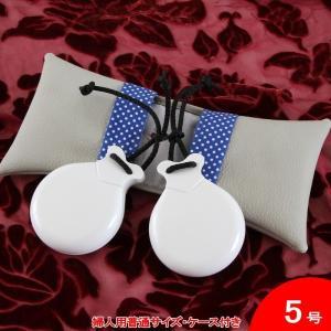 白いカスタネット (つやあり | 入門用 | エスペシアル) フィブラ 5号婦人用普通サイズ Filigrana社製 [フラメンコ用]|garogaro