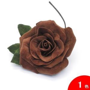 ベルベットのバラのコサージュ (大輪) [フラメンコ用]|garogaro