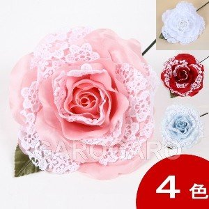 白レースのバラ MariAngel (マリアンヘル) [フラメンコ用]|garogaro