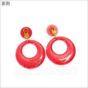 イヤリング (ピアス) 輪 (一重) プラスチック Mediano[メディアノ][4.4cm][フラメンコ用]|garogaro|05
