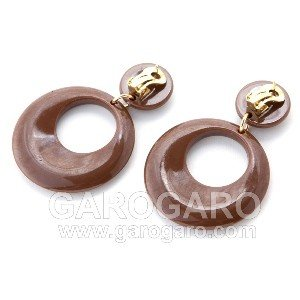 イヤリング (ピアス) 輪 (一重) プラスチック (5cm) (色A) [フラメンコ用]|garogaro|03