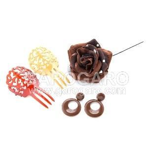 イヤリング (ピアス) 輪 (一重) プラスチック (5cm) (色A) [フラメンコ用]|garogaro|05