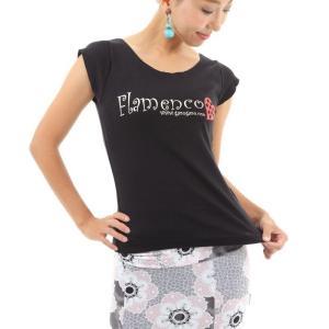 Tシャツ ハート オーバルショートスリーブ 黒|garogaro