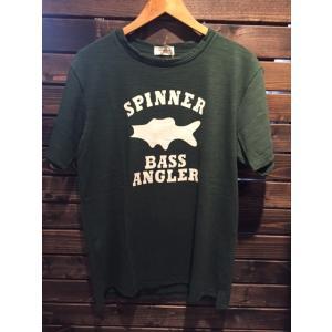 SPINNER BAIT(スピナーベイト) SPINNER BASS ANGLER Tee グリーン garretstore
