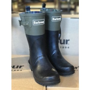 Barbour(バブアー)SHORT COLOUR BLOCK WELLY Black/Olive LRF0061|garretstore