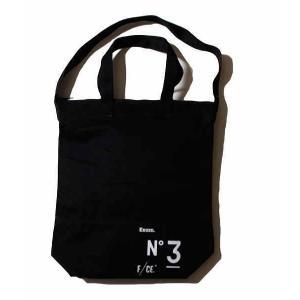 F/CE. NO.3 LINE NEWS PAPER BAG BLACK|garretstore