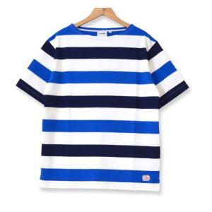 MACOBER ワイドボーダーバスクTシャツ BLUE TRICO|garretstore